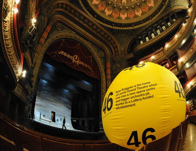 Lottery grant promotion The Grand Theatre, Leeds revamped with Lottery money