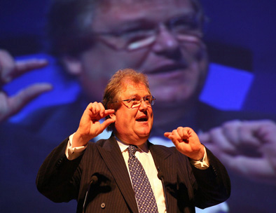 Sir Digby Jones speaks at the National Housing Conference in Harrogate